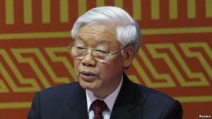 Tổng Bí thư Đảng Cộng sản Việt Nam Nguyễn Phú Trọng phát biểu trong buổi lễ khai mạc Đại hội đảng 12 tại Hà Nội, ngày 21/1/2016. Ảnh: Reuters