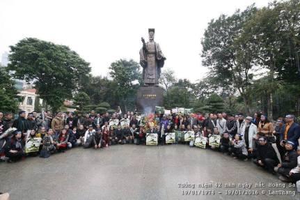 Tưởng niệm 42 năm ngày mất Hoàng Sa - 19-1-2016. Nguồn: Nguyễn Lân Thắng