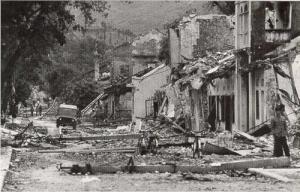 Thị xã Lạng Sơn bị quân xâm lược Trung Quốc tàn phá. Nguồn ảnh: Vietnamdefence
