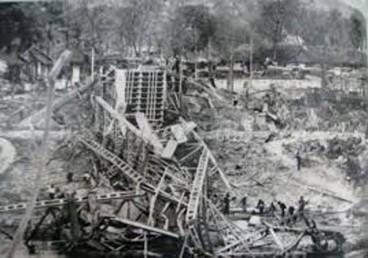 Thị xã Lạng Sơn bị quân Trung Quốc tàn phá (Ảnh: tư liệu). Nguồn: Soha