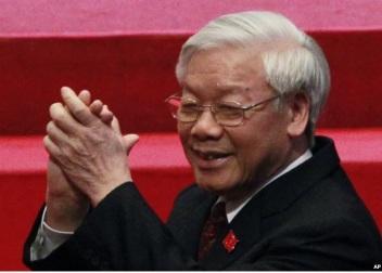 Ông Nguyễn Phú Trọng, người nói câu: Việt Nam dân chủ thế này là cùng. Ảnh: AP