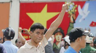 Ảnh minh hoạ: Biểu tình chống Trung Quốc tại TP HCM, ngày 18//5/2014. Ảnh: Reuters