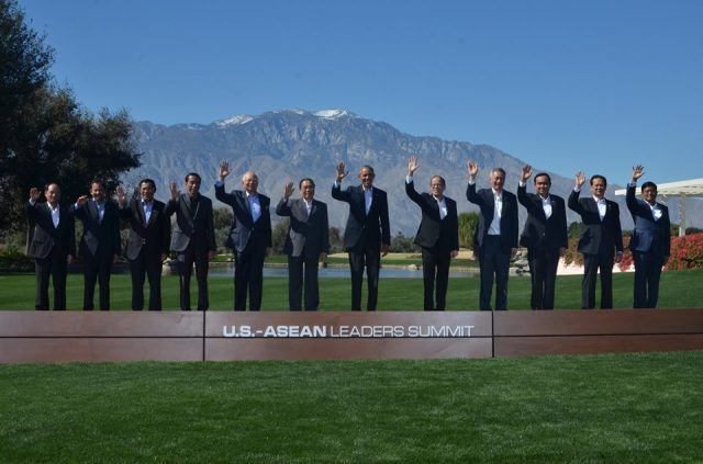 Ảnh chụp các nhà lãnh đạo Mỹ - Asean tại Sunnylands. Nguồn: internet