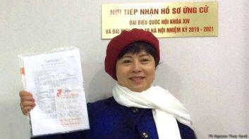 Ứng cử viên tự do Nguyễn Thúy Hạnh nói bà muốn thực sự làm nhiệm vụ của người đại biểu nhân dân để đóng góp cho dân, cho nước. Ảnh: FB Nguyễn Thúy Hạnh