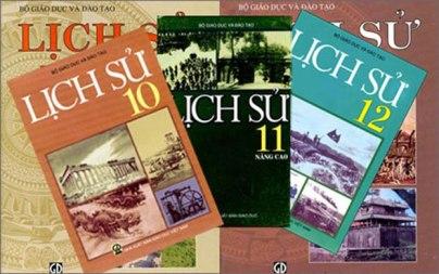 Sách giáo khoa môn lịch sử. RFA File