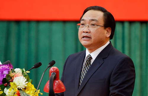 Bí thư thành ủy Hà Nội Hoàng Trung Hải. Ảnh: VNN