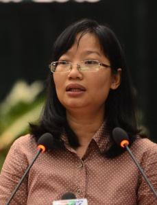 ĐBQH Trần Thị Diệu Thúy, TP.HCM khóa XIII Ảnh: Quang Định