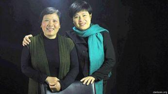 Bà Đặng Bích Phượng (trái) tự ứng cử trong kỳ bầu cử Quốc hội và Hội đồng Nhân dân các cấp ở Việt Nam năm 2016. Ảnh: Dân Luận.
