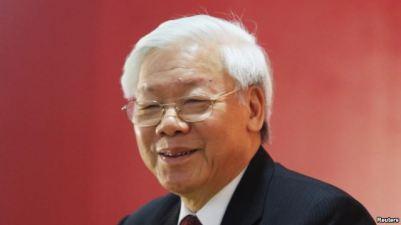 Tổng bí thư đảng cộng sản Việt Nam Nguyễn Phú Trọng phát biểu trong cuộc họp báo sáng 28/1/2016. Ảnh: Reuters