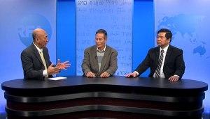 Từ trái qua: Biên tập viên Mặc Lâm, Blogger Điếu Cày và TS Cù Huy Hà Vũ tại trụ sở RFA ở Washington DC hôm 21/11/2014. Ảnh: RFA