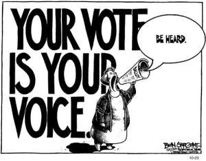Tiếng nói của quý vị được lắng nghe qua lá phiếu của quý vị. Nguồn ảnh: internet