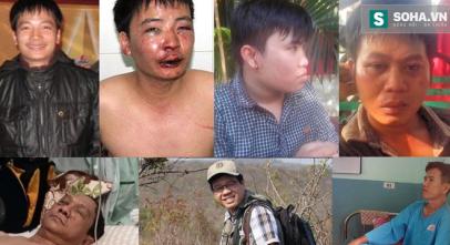 Một số nhà báo bị hành hung trong thời gian gần đây. Ảnh: Soha/ TTT