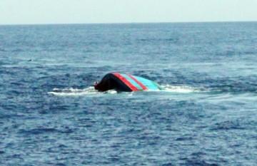 Một tàu cá của ngư dân miền Trung bị tông chìm ở vùng biển Hoàng Sa. (Ảnh minh họa)/ VOV