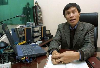 Ông Nguyễn Hữu Vinh, người sáng lập trang thông tin Ba Sàm nổi tiếng. AFP Photo