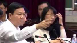 Bí thư Thành ủy TP.Hồ Chí Minh Đinh La Thăng. Screen shot.
