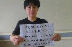 Ứng cử viên độc lập Nguyễn Thúy Hạnh. (FB Nguyễn Thúy Hạnh)