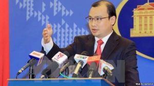 Ông Lê Hải Bình - người phát ngôn của Bộ Ngoại giao Việt Nam. Web screen shot