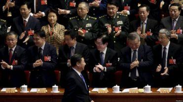 Chủ tịch Tập tại Đại lễ đường Nhân dân khi kết thúc kỳ họp Quốc hội giữa tháng 3. Ảnh: Reuters.