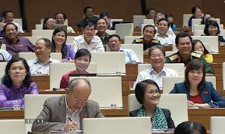Các ĐBQH đang họp. Nguồn ảnh: internet