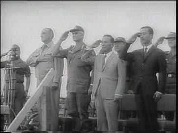 Từ trái sang phải: TT Lyndon Johnson, tướng William Westmoreland, TT Nguyễn Văn Thiệu và Thủ tướng Nguyễn Cao Kỳ. Nguồn: Getty