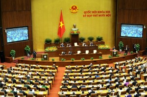 Quốc hội khóa 13, kỳ họp thứ 11 đang họp. Nguồn ảnh: Baron Trịnh sưu tầm trên internet.