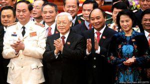 Ông Trần Đại Quang dự kiến sẽ là chủ tịch nước, ông Nguyễn Xuân Phúc là thủ tướng và bà Nguyễn Thị Kim Ngân là chủ tịch Quốc hội. Hoang Dinh Nam AFP GETTY