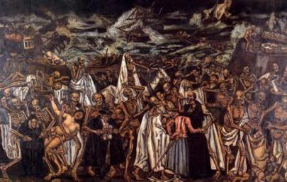 Tranh: The end of the world, của họa sĩ Jose Gutierrez Solana.