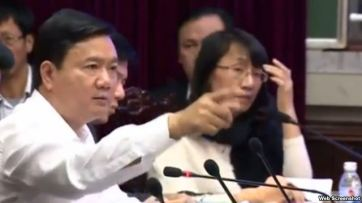 Bí thư Tp. Hồ Chí Minh Đinh La Thăng. Ảnh chụp màn hình.