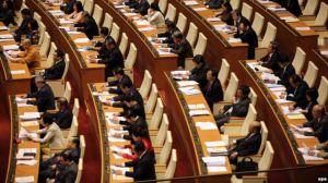 Các đại biểu dự phiên khai mạc kỳ họp Quốc hội khóa 13 tại Hà Nội, Việt Nam, ngày 21 tháng 3, 2016. Ảnh: EPA