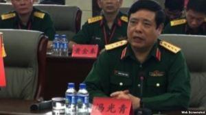 """Bộ trưởng Quốc phòng Phùng Quang Thanh: """"Xu thế ghét Trung Quốc gây nguy hiểm cho dân tộc."""" (Ảnh chụp màn hình.)"""