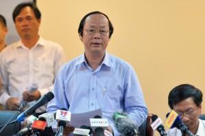 Ông Võ Tuấn Nhân tại buổi họp báo ngày 27/4/2016. Nguồn: internet
