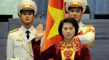 Bà Nguyễn Thị Kim Ngân tuyên thệ. Nguồn: internet