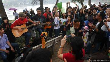 Xã hội dân sự đang ngày càng mạnh lên ở Việt Nam. Hoang Dinh Nam/ AFP/ Gettty