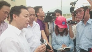Bộ trưởng TNMT Trần Hồng Hà trong chuyến thị sát hệ thống xả thải của FHS ngày 28.4 đã khẳng định Pháp luật Việt Nam không cho phép xả thải ngầm.