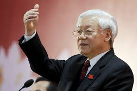 Tổng bí thư Nguyễn Phú Trọng trả lời báo chí trong nước và quốc tế - Ảnh: Reuters