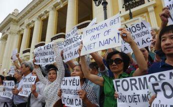 Biểu tình phản đối Formosa hôm 1/5/2016 Nguồn: internet