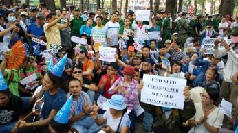 Hình ảnh biểu tình hôm Chủ Nhật 8/5 vừa qua. Nguồn: FB