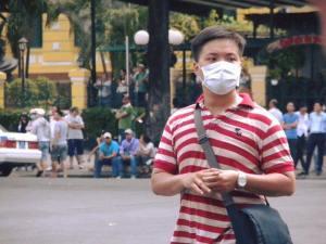 Các blogger cho biết ảnh chụp của viên công an Phạm Hữu Đức, là người đánh dân tàn bạo nhất trong ngày biểu tình 8/5. Nguồn: Facebook