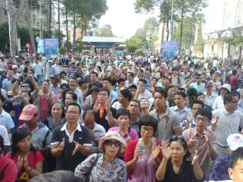 Ảnh biểu tình ở Sài Gòn trước đây. Nguồn: internet