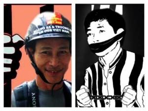 Blogger Điếu Cày và Trần Huỳnh Duy Thức. Nguồn: Blog Trương Duy Nhất