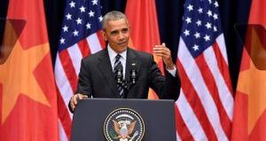 Tổng thống Obama phát biểu tại Trung tâm Hội nghị Quốc gia Mỹ Đình ngày 24/5/2016. Nguồn: internet