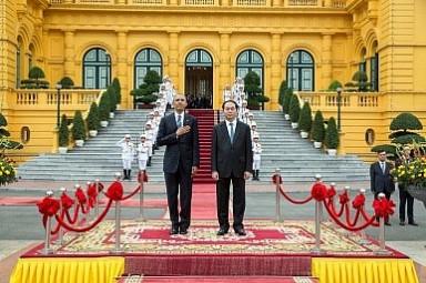 TT Obaam và CTN Trần Đại Quang. Ảnh: Nhà Trắng