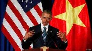 Tổng thống Hoa Kỳ Barack Obama tại Hà Nội ngày 23/5/2015. Ảnh: Reuters.