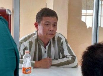 Ông Trần Huỳnh Duy Thức trong một lần gặp gỡ gia đình tại trại giam trước đây. Courtesy Photo