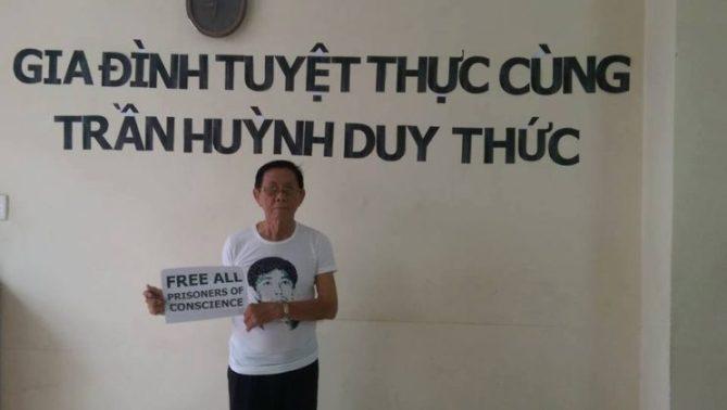 Cụ Trần Văn Huỳnh, bố của TNLT Trần Huỳnh Duy Thức. Nguồn: facebook