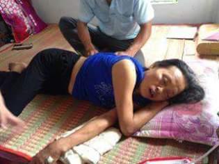 Bà Nguyễn Thị Liên, người xóm 11, xã Nghi Phương, huyện Nghi Lộc, tỉnh Nghệ An đã bị rơi vào tình trạng nguy kịch sau khi ăn tép biển: Pv. GNsP