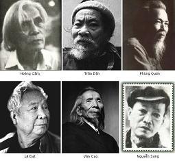 Một số tác gia danh tiếng của phong trào Nhân Văn Giai Phẩm.