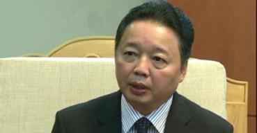 Bộ trưởng Tài nguyên Môi trường Trần Hồng Hà. Ảnh: TTXVN
