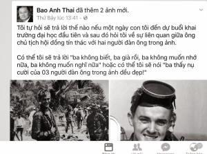 Ảnh chụp màn hình status của Thái Bảo Anh