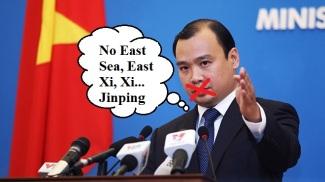 Phát ngôn Bộ Ngoại giao Lê Hải Bình bị bịt miệng về Biển Đông.